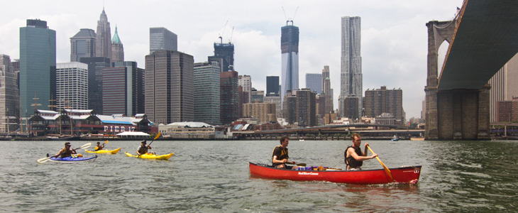 Paddling the East River