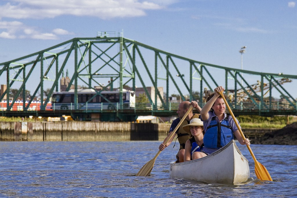 Canoeing on Newtown Creek (photo by Mitch Waxman)