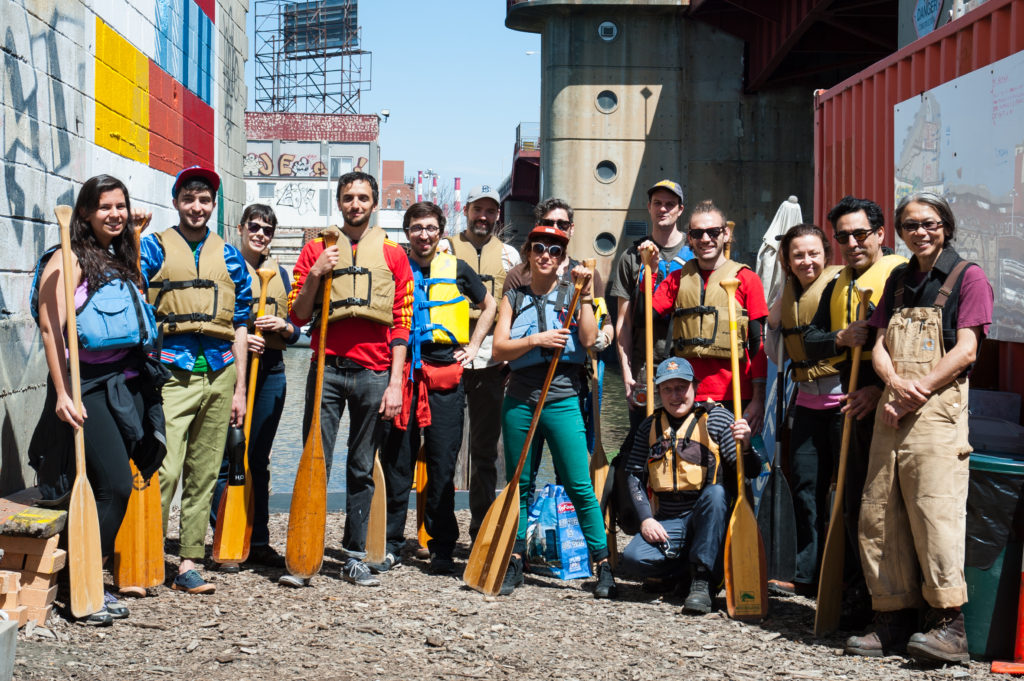 Paddlers assembled, 2014