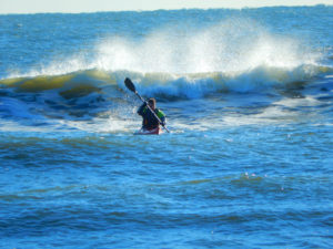 Vince rides the surf
