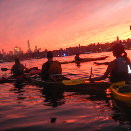 Williamsburg sunset paddle, September 20, 2016