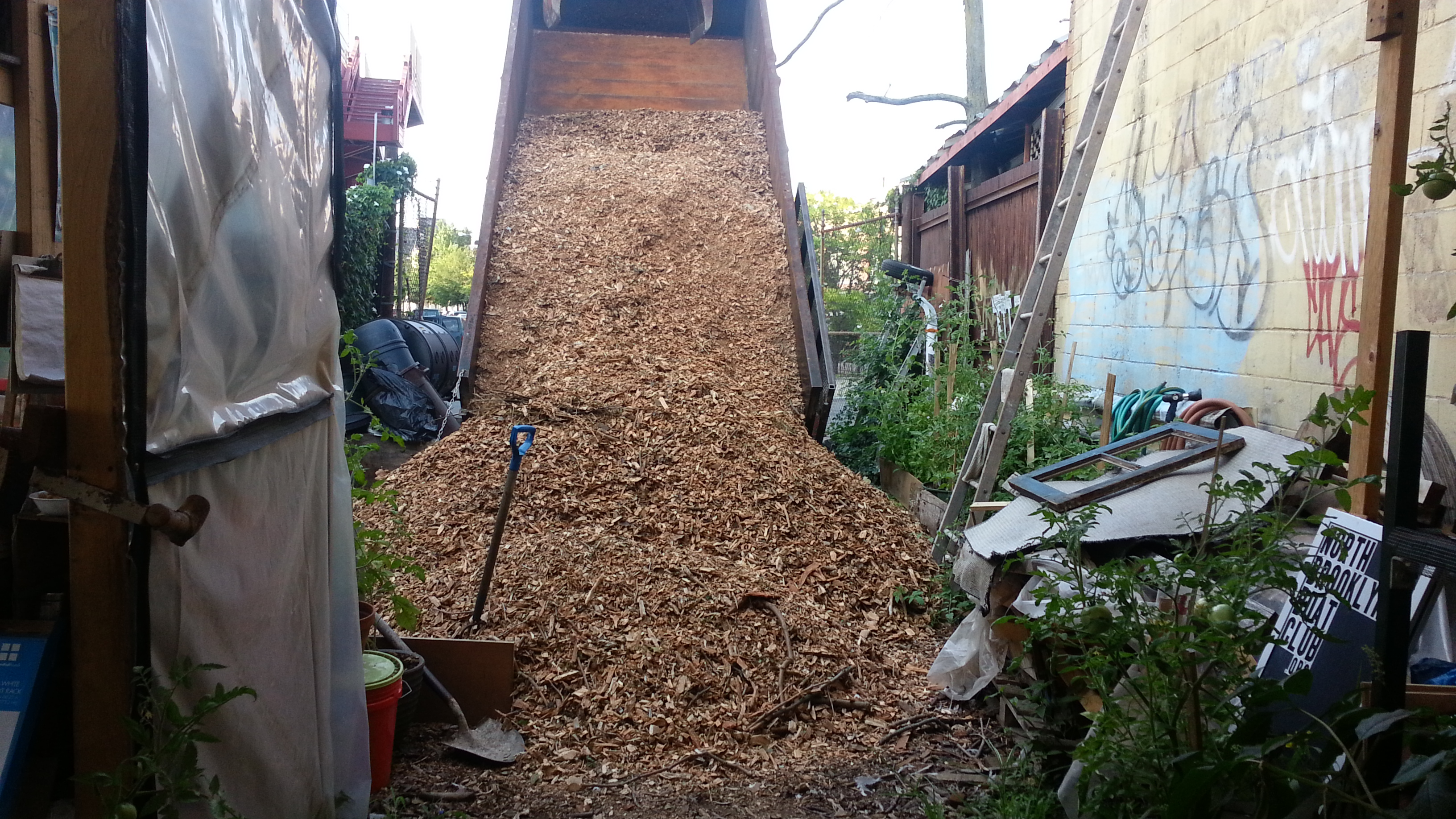 Woodchip delivery!