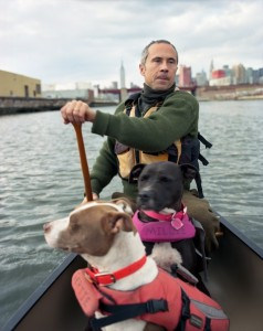 Jens, Gertie, and Millie on Newtown Creek