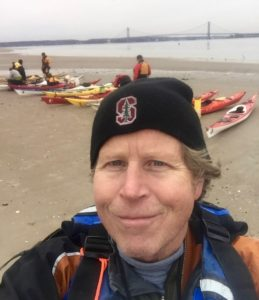 Intrepid winter paddling at Coney Island