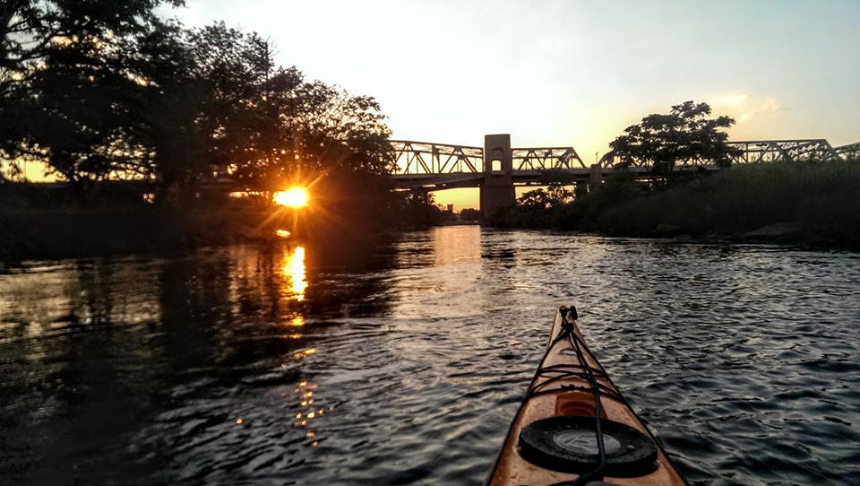 Sunset from a kayak, 2015