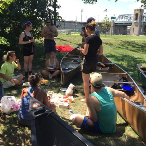 Canoe picnic on Randalls Island, August 7, 2016